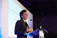 Event host, Colonel Dame Kelly Holmes addresses guests